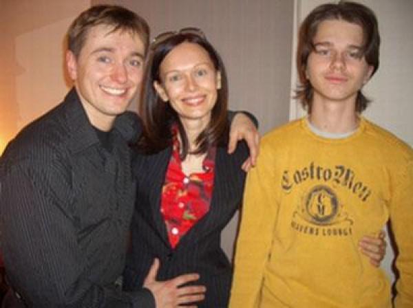 Сергей и Ирина Безруковы, сын Ирины от Леванова