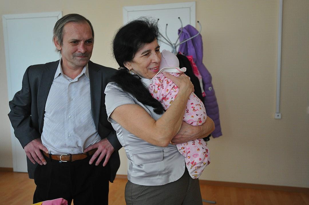 Галина с мужем Алексеем и дочерью Клеопатрой