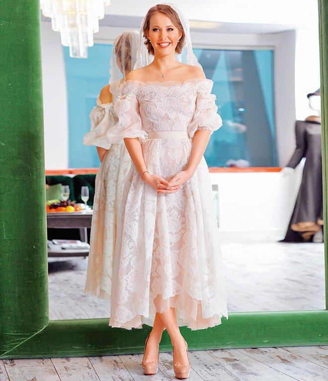 Свадебное платье Собчак с Виторганом, 2013