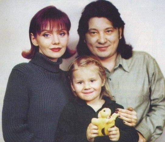 Валерия, Шульгин и дочь Аня в детстве