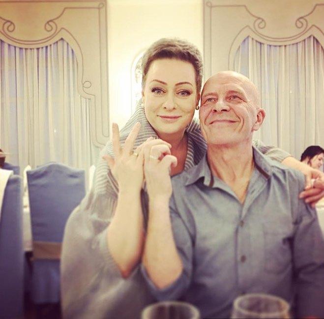 Мария Аронова и муж Евгений Фомин в день свадьбы