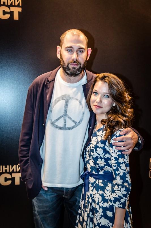 "Семен Слепаков с женой на презентации сериала ""Домашний арест"", август 2018г."