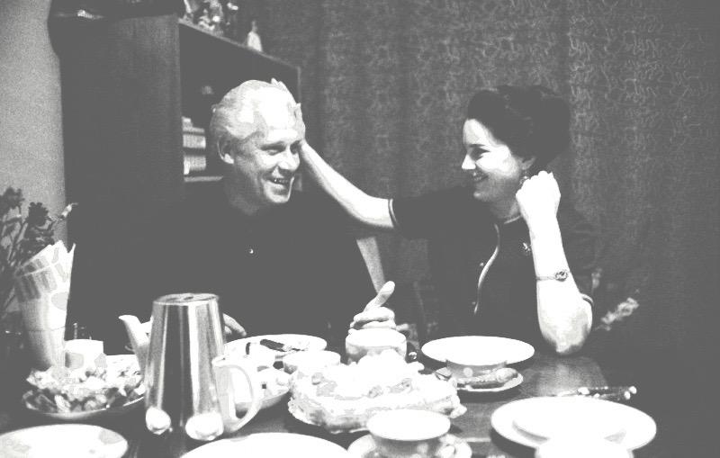 Элина Быстрицкая и ее муж Николай Кузьминский, 1963 г.