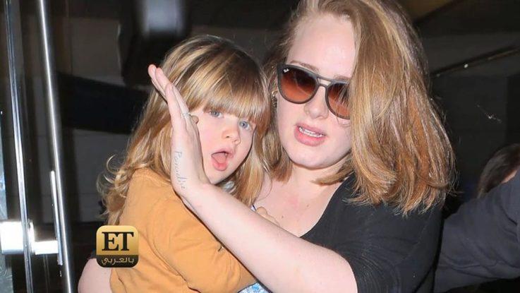 Адель с сыном