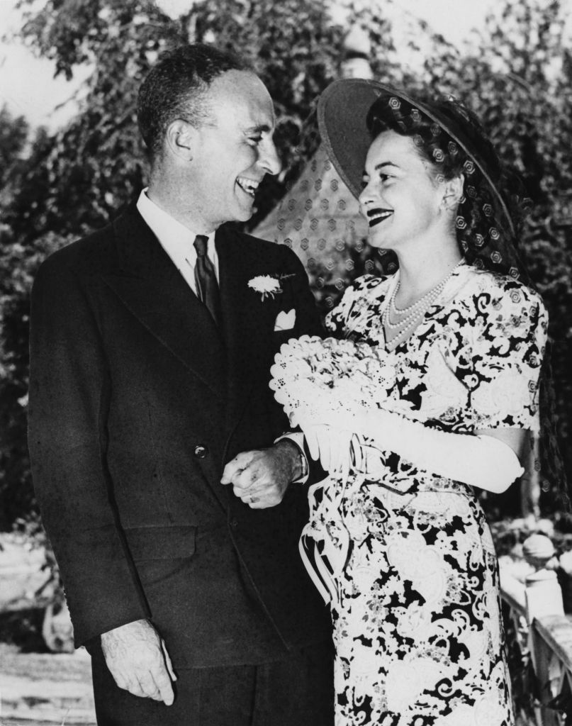 Оливия де Хэвилленд с первым мужем Маркусом Гудрихом