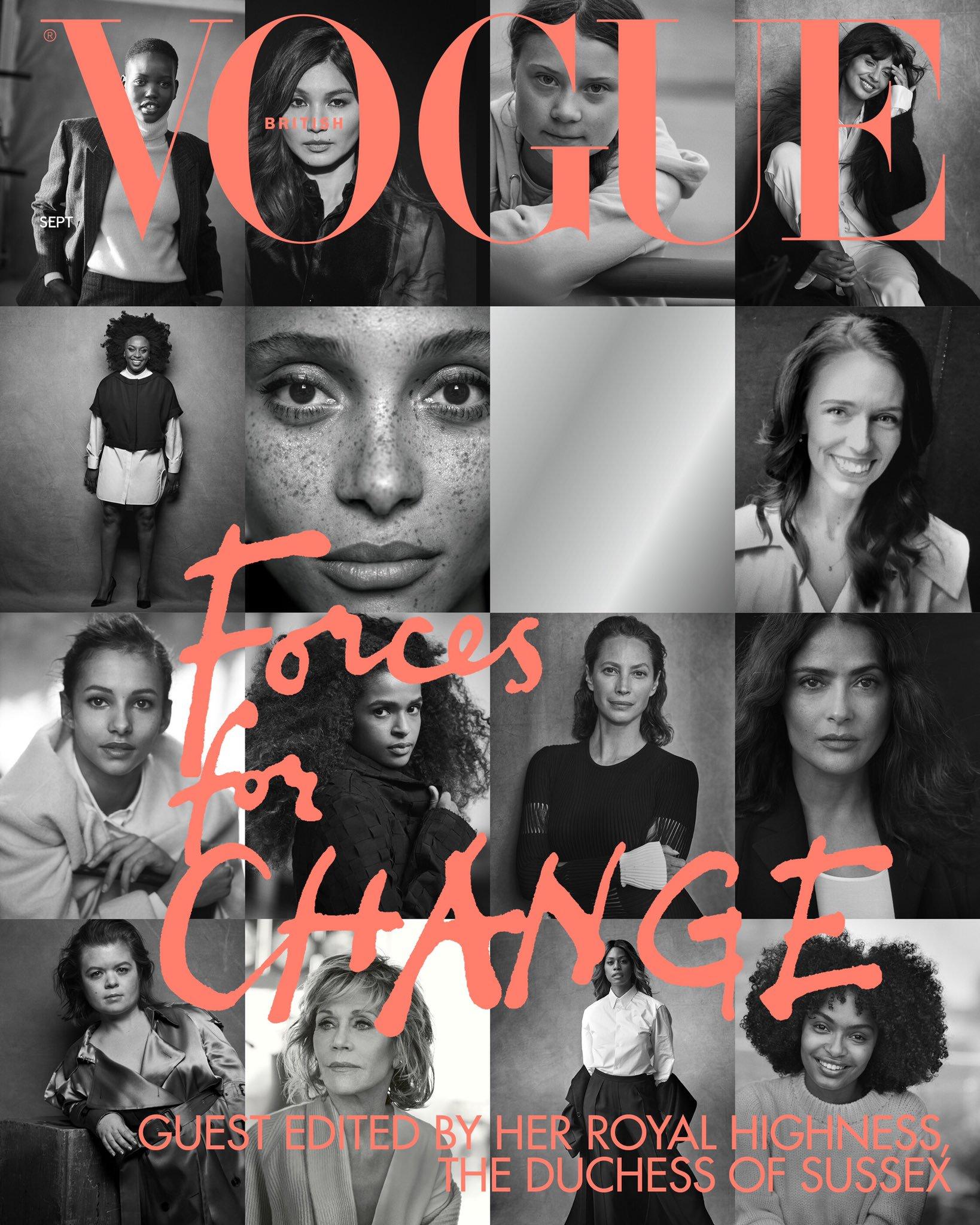Обложка сентябрьского British Vogue от Меган Маркл