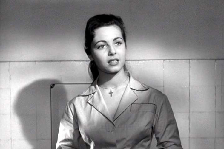 Первая роль Мишель Мерсье, фильм «Ответный удар», 1957 г.
