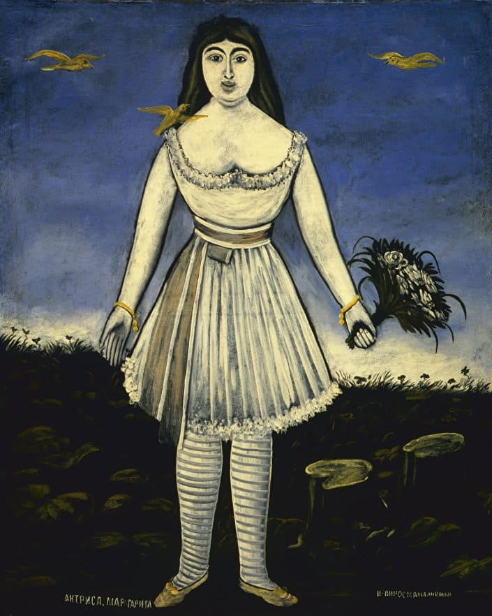 Картина Пиросмани «Актриса Маргарита»
