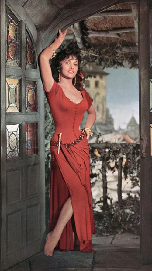 В роли Эсмеральды, 1956 г.