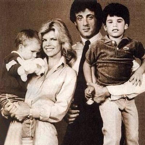 Сильвестр Сталлоне с женой и сыновьями