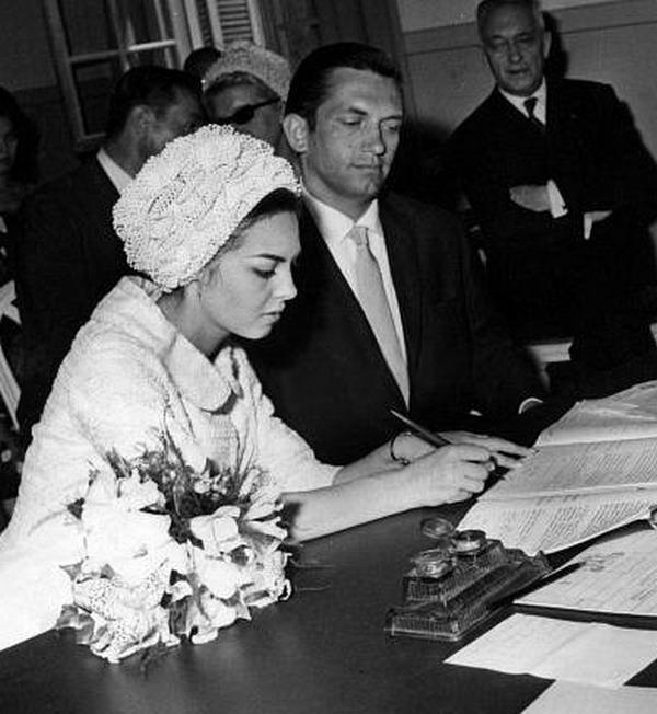Свадьба Мишель Мерсье и Андре Смагги