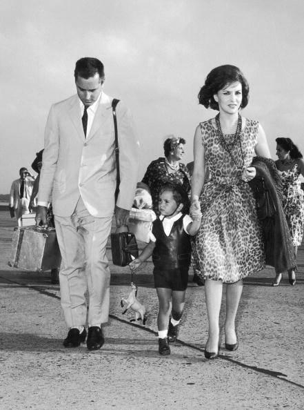 Джина с мужем и сыном, 1961 г.