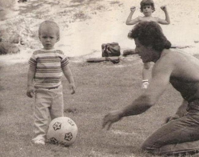Сильвестр Сталлоне с младшим сыном