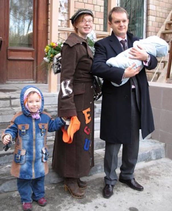 Амалия с третьим мужем Вадимом Беляевым и детьми
