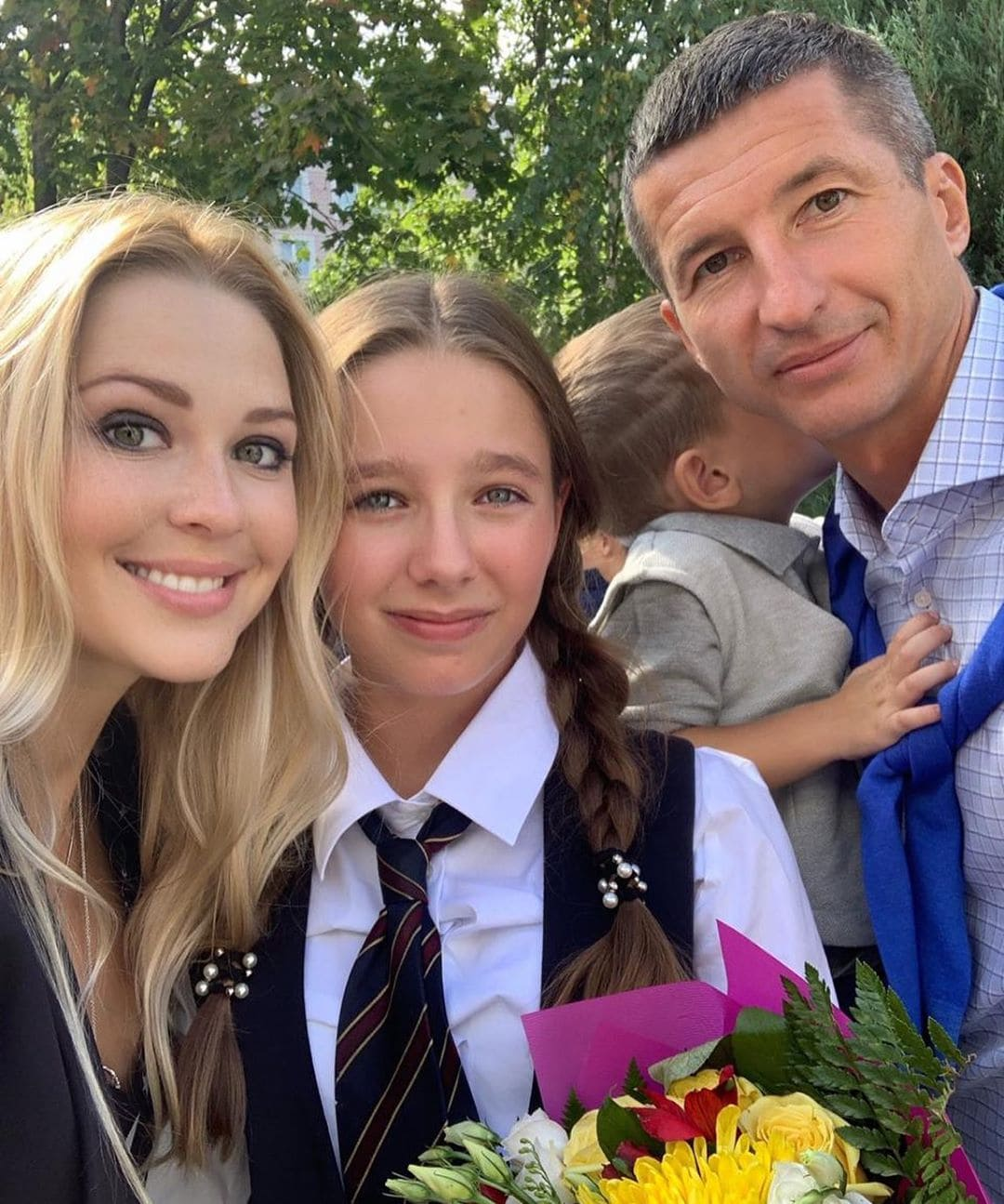 Вера Алдонина с Евгением Алдониным, его женой Ольгой, братом Артемом