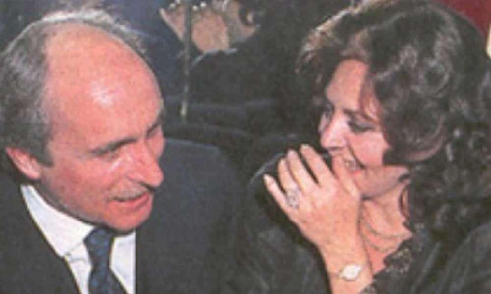 Итальянский принц Николо Бокомпаньи Лудовизи и Мишель Мерсье, 80-е, г.