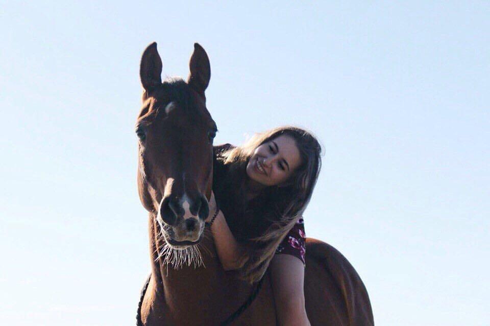 Злата Ковальчук и конь Листопад