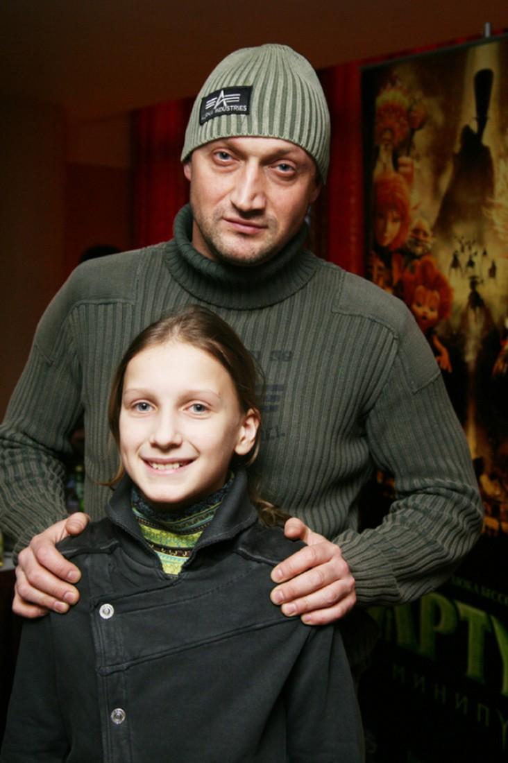Полина Куценко с отцом, 2006 г.