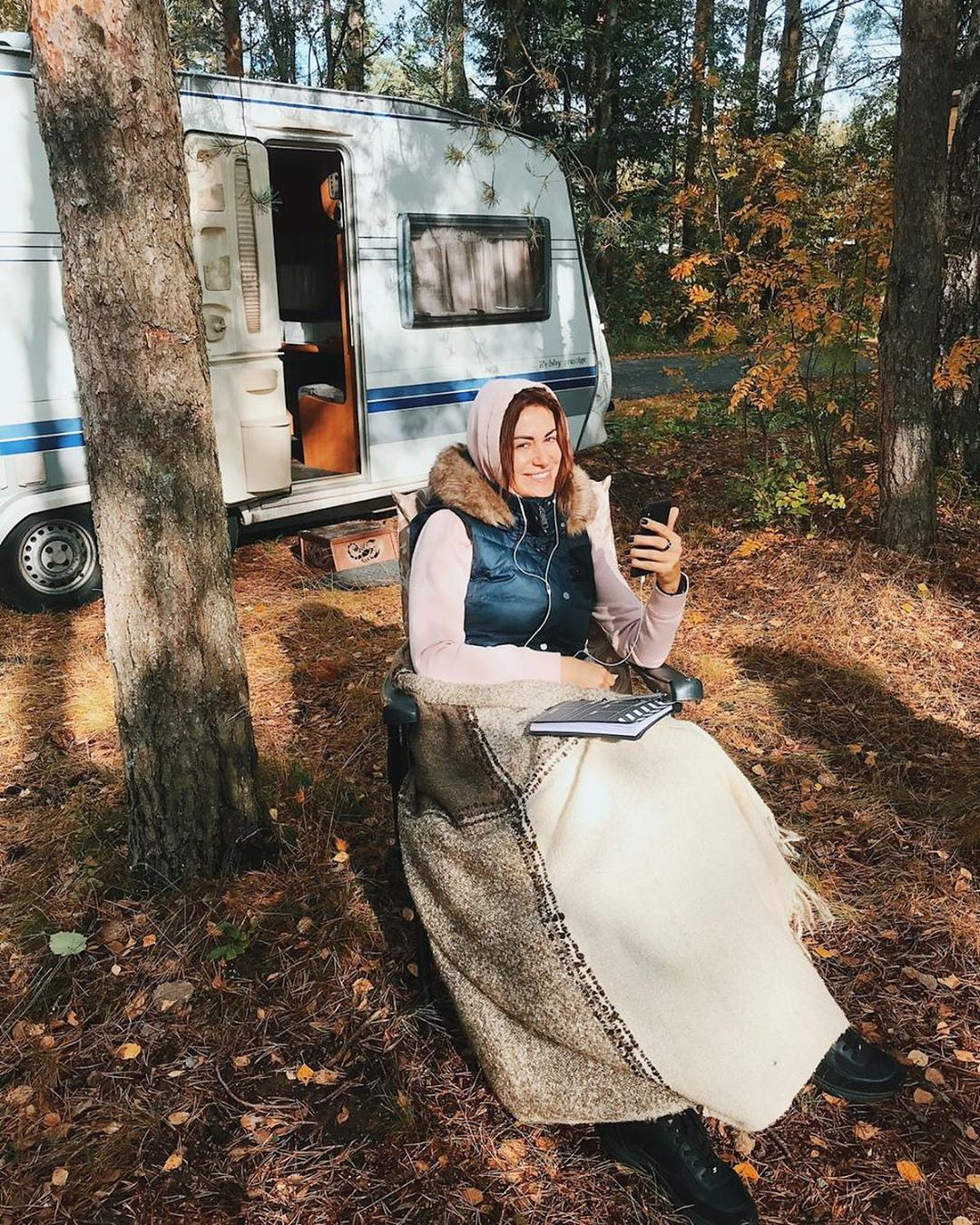 Анна Ковальчук на съемках Тайны следствия