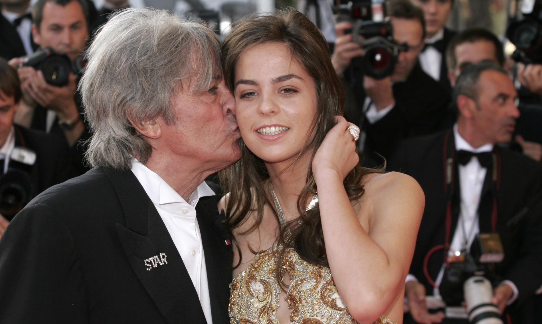Ален Делон и его единственная дочь Анушка
