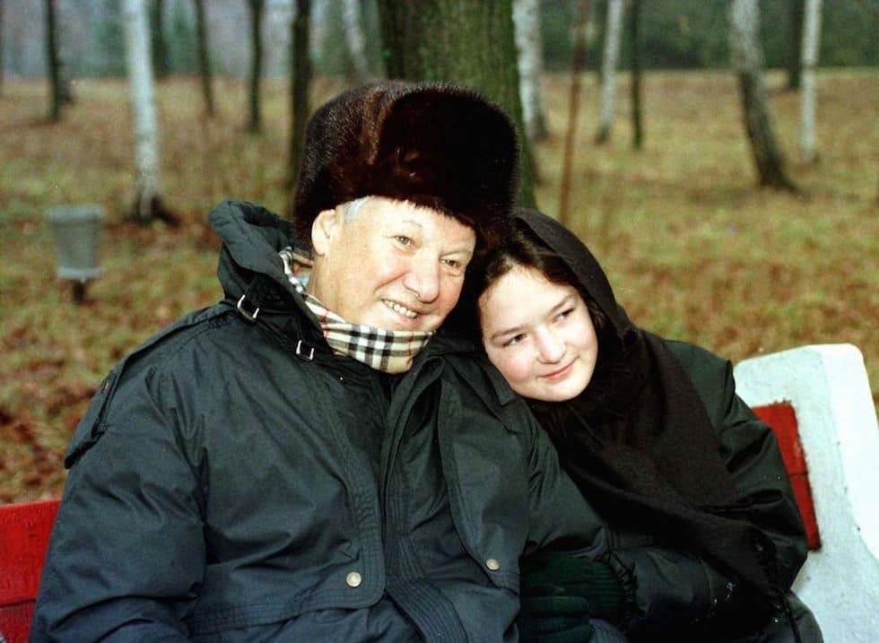 Мария Окулова с Борисом Ельциным