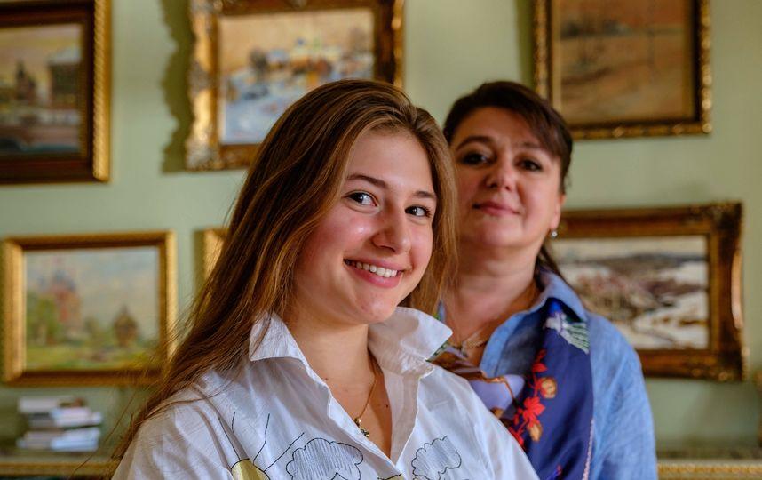 Мария Мельникова с мамой