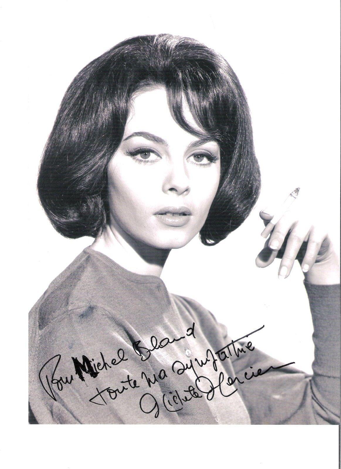 Мишель Мерсье и ее автограф