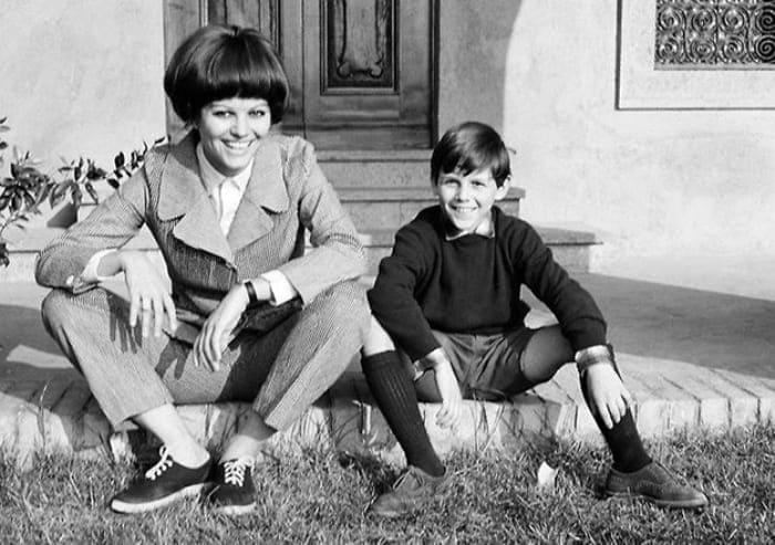 Клаудия Кардинале с сыном Патриком