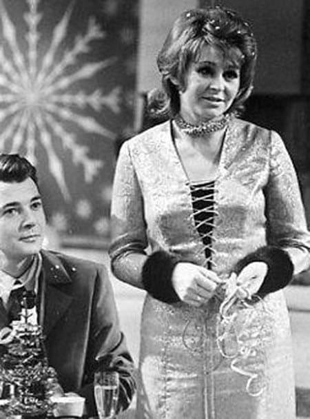 Ангелина Вовк в молодости с первым мужем