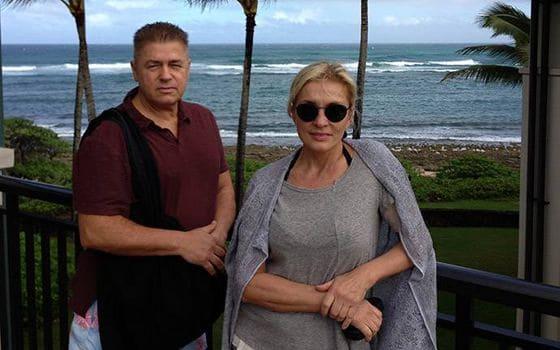 Лайма Вайкуле с мужем