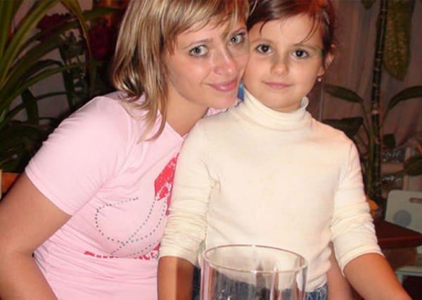 Юлия Салтовец с дочерью Полиной