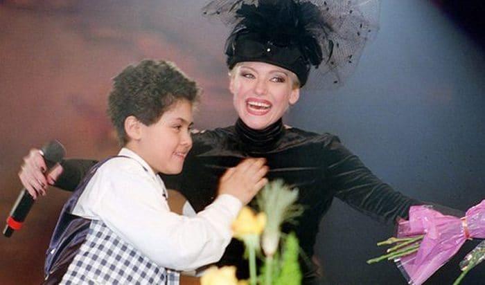 Ирина Понаровская с сыном