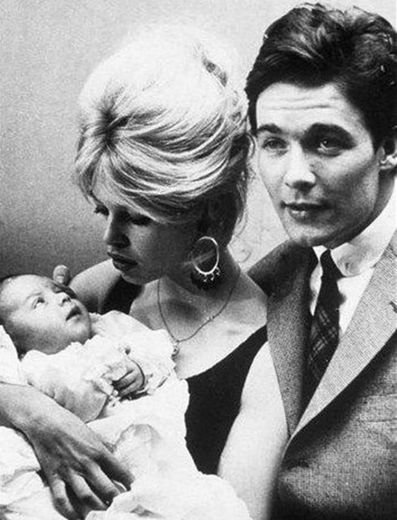 Брижит Бардо с мужем и сыном