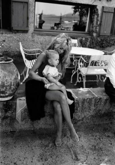Брижит Бардо с маленьким сыном