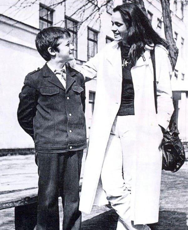 Любовь Полищук с Алексеем Макаровым в детстве