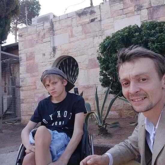 Евгений Кулаков с сыном