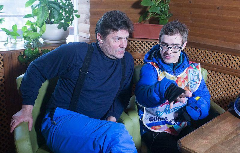 Сергей Белоголовцев с особенным сыном дцп