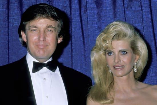 Дональд Трамп с первой женой Иваной