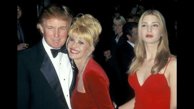 Дональд и Ивана Трамп с дочерью Иванкой