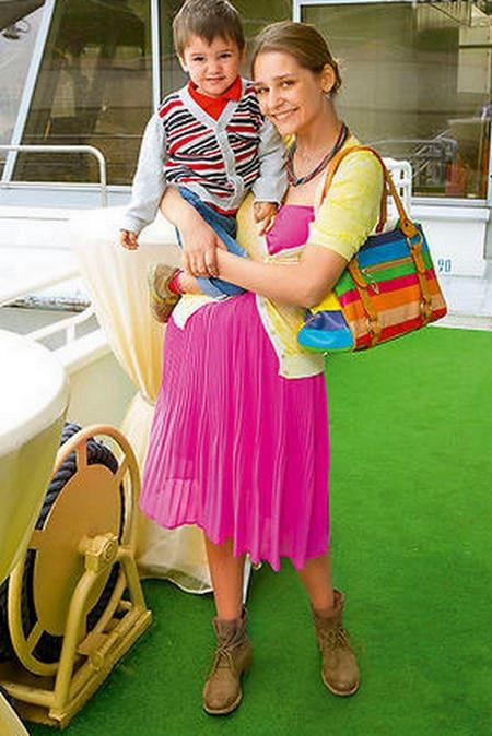 Глафира Тарханова с сыном Гордеем