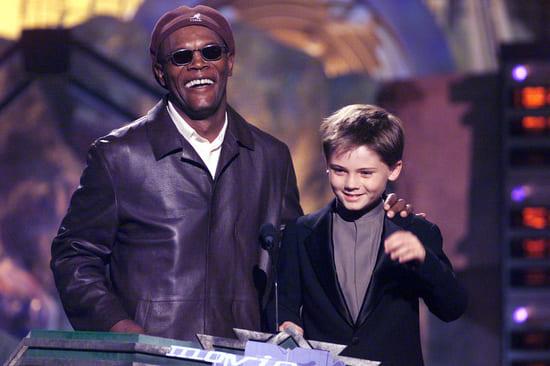 Сэмюэл Джексон и Джейк Ллойд на церемонии MTV Movie Awards