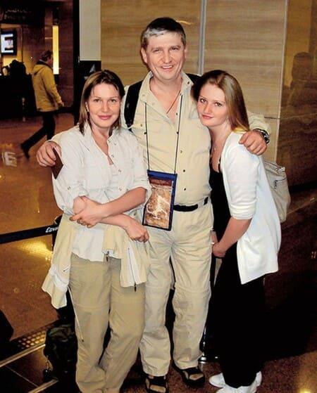 Елена Проклова с мужем Андреем Тришиным и дочерью Полиной