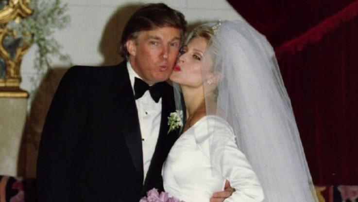 Свадебное фото Дональда Трампа и Марлы Мэйплс