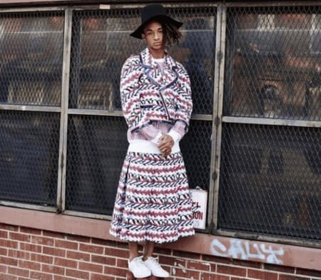 Джейден Смит любит появляться на публике в женских платьях