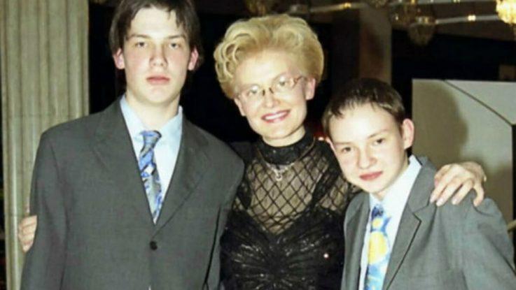 Елена Малышева с сыновьями-подростками, 2003 г.