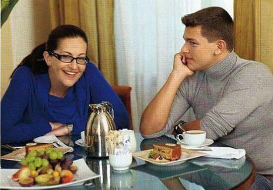 Кирилл с мамой Алисой Шер