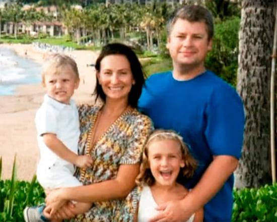 Эмиль Лотяну-младший с женой и детьми