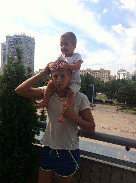 Алексей Щербаков со старшим сыном Даниилом