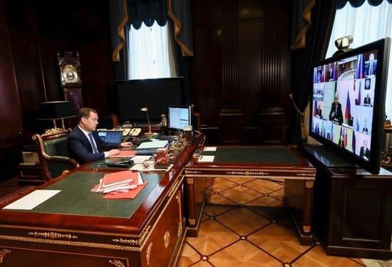 Новое рабочее место Дмитрия Медведева