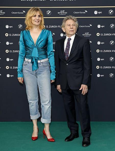Роман Полански с женой